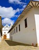教会哥伦比亚de leyva修道院别墅 免版税库存照片