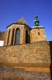 教会哥特式塔 免版税图库摄影