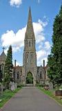 教会哥特式尖顶 库存照片