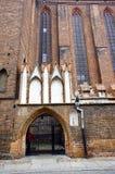 教会哥特式门户 免版税图库摄影