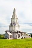 教会唯一kolomenskoe的帐篷 免版税库存图片