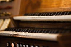 教会器官键盘 图库摄影