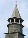 教会圆屋顶老木 免版税库存照片
