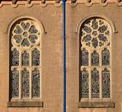 教会圆花窗  库存照片