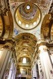 教会圆顶、细节和绘画 免版税库存照片
