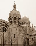 教会圆顶在马赛 库存照片