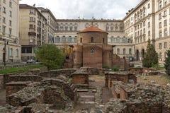 教会圣乔治惊人的看法圆形建筑在索非亚,保加利亚 库存图片