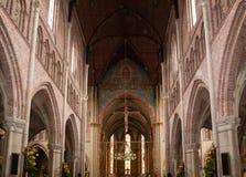 教会圣劳伦斯格罗特Kerk或伟大的教会的内部在阿尔克马尔, 图库摄影