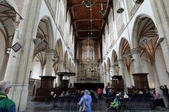 教会圣劳伦斯格罗特Kerk或伟大的教会的内部在阿尔克马尔 库存图片
