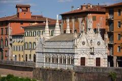 教会圣塔玛丽亚della Spina在比萨,意大利 免版税库存照片