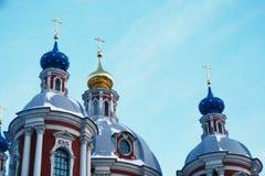 教会圣徒克莱门斯在莫斯科 免版税图库摄影