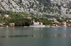 教会圣徒Eustache在Dobrota,黑山 库存照片