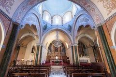教会圣托里尼希腊 库存图片