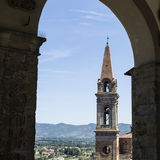 教会圣朱利亚诺在卡斯蒂廖恩菲奥伦蒂诺 库存照片