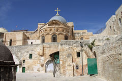 教会圣洁耶路撒冷坟墓 库存图片