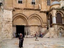 教会圣洁耶路撒冷坟墓 免版税库存照片
