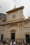 教会圣玛丽亚Assunta,波西塔诺,意大利 免版税库存照片