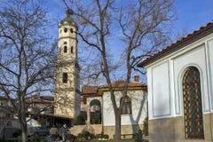教会圣约翰浸礼会教友在布拉齐戈沃,帕扎尔吉克历史镇地区, Bulgari 免版税库存图片