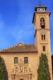 教会圣诞老人安娜里约Darro格拉纳达安大路西亚西班牙Iglesia  免版税库存照片