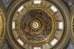 教会圣阿格尼丝在过去的圣诞老人Agnese 教会博罗米尼 免版税库存照片