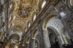 教会圣阿格尼丝在过去的圣诞老人Agnese 教会弗朗切斯科 库存照片