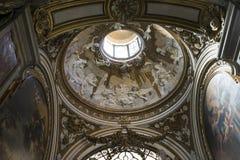 教会圣阿格尼丝& x28建筑细节和内部; 圣诞老人 免版税库存照片