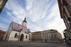 教会圣马克,其中一个之字形最重要的地标  免版税库存图片