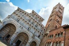教会圣马蒂诺在卢卡,托斯卡纳地区,意大利 免版税库存照片
