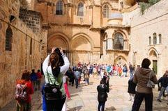 教会圣洁坟墓 耶路撒冷 库存图片