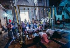 教会圣洁坟墓 库存照片