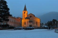 教会圣Biaggio,贝林佐纳 提契诺州,瑞士 免版税图库摄影