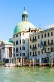 教会圣Simeone短笛在威尼斯 免版税库存图片