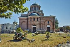 教会在中世纪修道院圣约翰里浸礼会教友,保加利亚 免版税库存图片