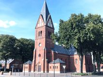 教会在丹麦海宁,丹麦 库存图片