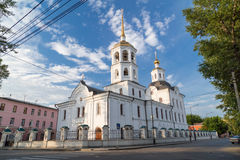 教会在伊尔库次克,俄罗斯 免版税图库摄影