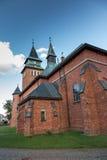 教会在克拉科夫附近的Zabawa在波兰连接用生活o 库存图片