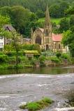 教会在兰戈伦,英国 免版税库存图片
