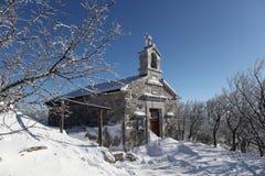 教会在冬天 免版税图库摄影