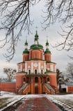 教会在冬天 库存照片