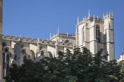 教会在利昂,法国 库存照片
