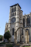 教会在利昂,法国 图库摄影