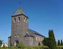 教会在博恩霍尔姆,丹麦 库存照片