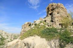 洞教会在卡帕多细亚 免版税库存图片
