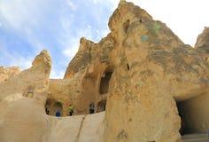 洞教会在卡帕多细亚 库存图片