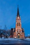 教会在吕勒奥 库存照片