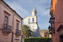教会在圣米哥de亚伦得,墨西哥 图库摄影