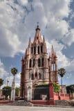 教会在圣米格尔de亚伦得 库存照片