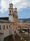 教会在圣Christobal恰帕斯州墨西哥 免版税库存照片