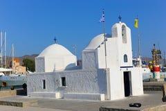 教会在埃伊纳岛,希腊 库存照片