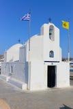 教会在埃伊纳岛,希腊 免版税库存图片